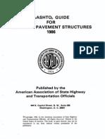 AASHTO Pavement Design 1986