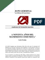 A Noventa años del manifiesto comunista - leon Trotsky