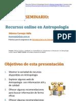 Seminario Recursos Online en Antropología Social