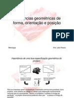 Tolerâncias geométricas de forma, orientação e posição
