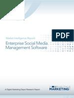 Enterprise Social Media Management Software 2012