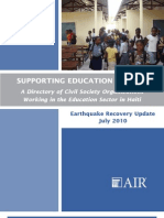 Supporting Education in Haiti A Directory of Civil Society Organizations