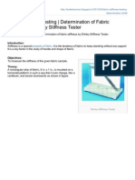 Fabric Stiffness Testing Determination of Fabric Stiffness by Shirley Stiffness Tester