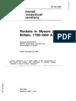 Rockets in Mysore and Britain, 1750-1850