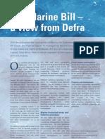 Defra Marine Bill, Spring 2006