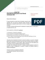 Informatii Despre Certificarea Calitatii ISC