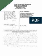 Elsie Lucero Affidavit Filing May 30 2012