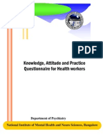 KAP Questionnaire for Health Workers