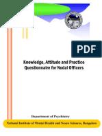 KAP Questionnaire for Nodal Officers