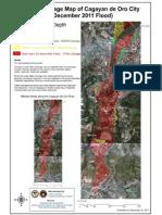 Flood Damage Map of CDO (Sendong) - A3