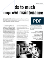 Methods to Improve Maintenance