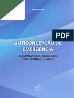 Anticoncepcao Emergencia Perguntas Respostas 2011 - 2ed