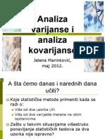 Analiza Varijanse i Analiza Kovarijanse