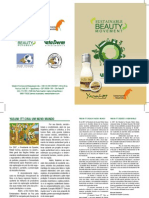 Folheto Rio+20 2  Brasil Yasuni,  Ecuador Crema humectante , Hypoallergenic stick de labios, Hypoallergenic face cream moisture