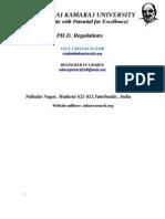 Phd Regulations