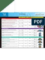 Yoli Product Price Guide