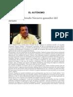 Se declara Librado Navarro ganador del debate