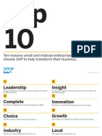Top 10 Reasons Small and Midsize Enterprises (SMEs) Choose SAP to Help Transform Their Business