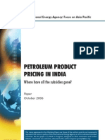 Petroleum Product Pricing