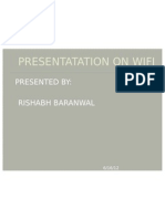Presentatation on Wifi