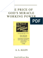 The Price Of God S Miracle Working Power Aa Allen Pentecostalism