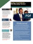 MCM Worship Center (Church Bulletin)