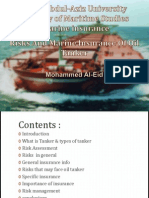 Risks and Marine Insurance of Oil Tanker