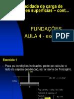Fundações aula 4 exercícios