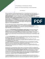 Positive Psychotherapy as Psychodynamic