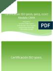 Certificación ISO 9000, 9003, 12207