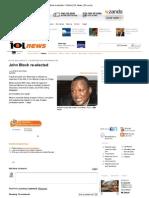 Print - John Block Re-elected - Politics _ IOL News _ IOL