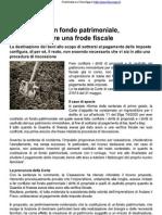 Fondo Patrimoniale FiscoOggi20120615