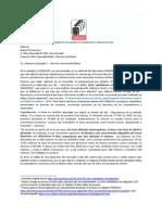 Carta Uben Kong a El Comercio