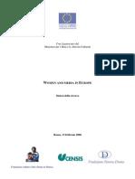 Censis Donne e Media in Europa