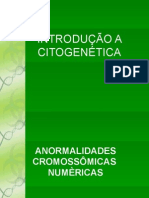 Introdução a Citogenética medvet 2012