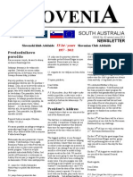 Slovenia SA Newsletter Zima -Winter 2012