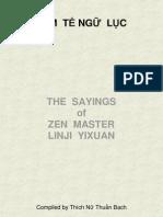 LÂM TẾ NGỮ LỤC-Sayings Of Zen Master Linji Yixuan
