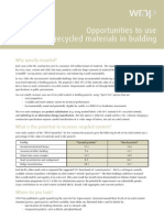 Coûts & Ratios _Recyclage Déchets de Construction