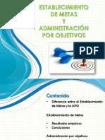 Establecimiento de Metas y Administracion Por Objetivos
