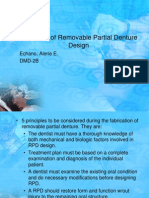 Principles of Removable Partial Denture Design