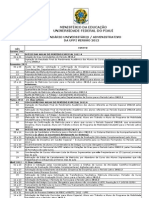 Calendário UFPI 2012