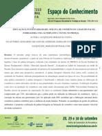 EDUCAÇÃO E SUSTENTABILIDADE - OFICINA DE COSMÉTICOS Á BASE DE PALMA
