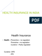HEALTH Insurance in India-GC Chaturvedi Presntn
