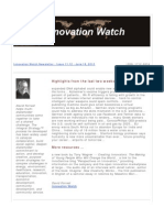 Innovation Watch Newsletter 11.12 - June 16, 2012