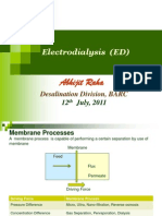Lecture on Electrodialysiss