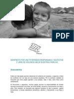 Manifiesto Paternidades Responsables