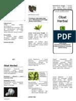 Leaflet Obat Herbal