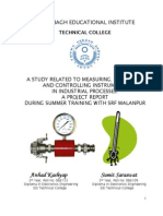 A Study Related to Measuring, Indicating and Controlling Instruments in Industrial Processes-SRF Malanpur