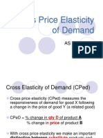 3.5 Cross Price Elasticity