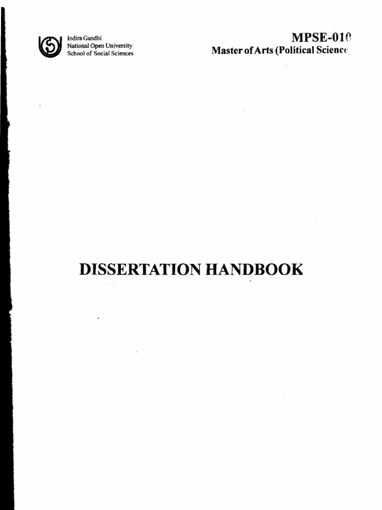 ignou m ed dissertation handbook